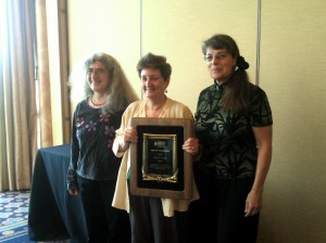 Zelda, Katha Pollitt (Humanist Heroine awardee) and Stephanie