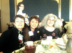Stephanie Downs Hughes, Sylvia and Zelda at AHA Convention Feminist Heroine Luncheon