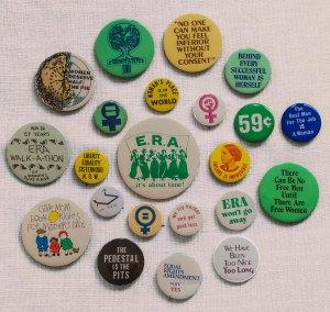 Marijke's ERA Buttons-  Photo by Barbara J. McGuire, MD