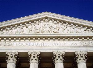 Motto above the portico of the Supreme Court